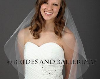 Simple Veil, Soft Veil, Waist Veil, Sheer Veil, Waist Veil, Bridal Veil Ivory, Wedding Veil White, One Layer Veil, Wedding Veil Bliss