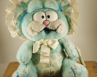 Vintage 10th Anniversry Blue Garfield BabyKins Dakin Plush