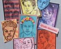 SALE/Luke Hemmings/ 5SOS/Five Seconds of Summer/Sticker Pack/ Pack of 9/ Laptop Stickers