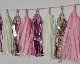 20 Tassel It's A Girl Pink Tissue Paper Garland, Pink Wedding Party Decorations, Baby Shower, Streamers, Paper Decorations, Tissue Garland