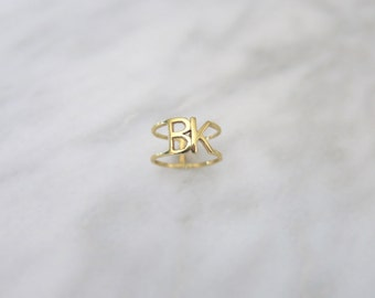 BK 14k Gold Brooklyn Pinky Ring or Midi Ring