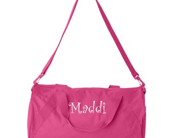 Personalized Embroidered Duffel Bag Gym Tote Available In 11 Colors School Duffle