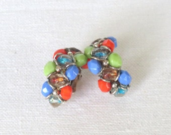 Vintage Earrings - Vintage Clip On Earrings, Vintage Jewelry