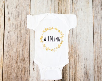 Wildling Bodysuit / Game of Thrones Shirt / Game of Thrones Gift / Hipster baby clothes / Baby Shower Gift / Trendy Baby Clothes