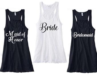Maid of Honor Tank Top / Wedding Party Tank / Wedding Tank / Bridal Party Tanks / Bridal Party Tee / Bride Tank Top / Bride TankTop