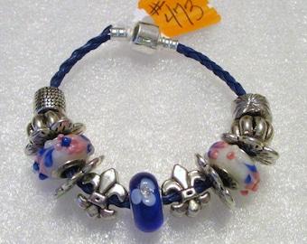 473 - CLEARANCE - Blue Beaded Bracelet