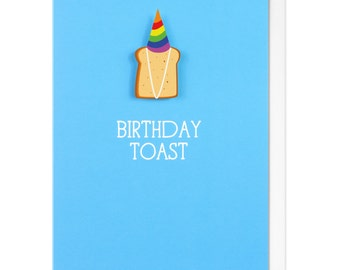 Birthday Toast Personalised Happy Birthday Greeting Card