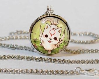 Handmade Chibiterasu Amaterasu Okami Pendant Necklace