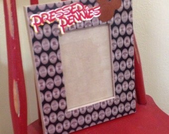 Disney Pressed Pennies inspired, Disney Memories, photo frames, housewares, frames