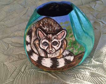 Gourd Art:  Ringtails and Ripples