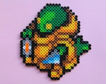 Hama/Perler Bead Final Fantasy Inspired Tonberry Pixel Art Bead Sprite, Gaming, Game Art, 8 Bit, Decortive, Home Decor, Accessories