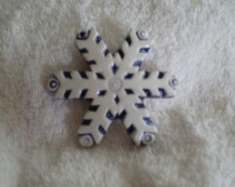 Ceramic Snowflake Magnet