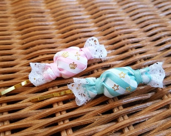 Mint or Pink Candy Hair Pin