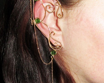 Ancient Wood Elven Ears, elf ears for elf costume, elvish jewelry for cosplay or LARP, fairy ears jewelry, fantasy lover gift, elf ear cuffs