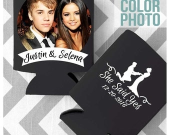 Full Color PHOTO PRINT - Custom Wedding Koozies - Custom Full Color Can Cooler - Free Shipping on all Koozies