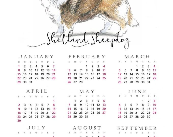 Shetland Sheepdog  2017 yearly calendar