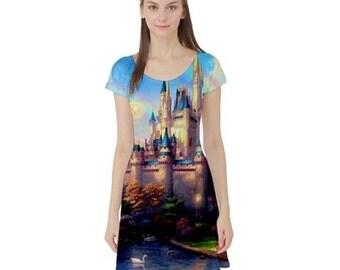 S- 3XL Disney inspired Magic Kingdom fairytale castle dress