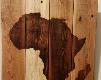 Custom Africa Adoption wood sign