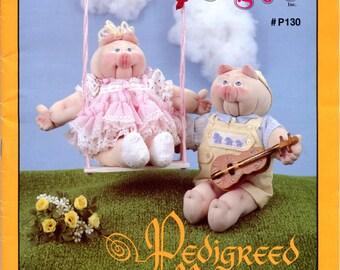 Pedigreed Piglets from  Mrs. Martha Originals (soft sculpture, stuffed toy making) |