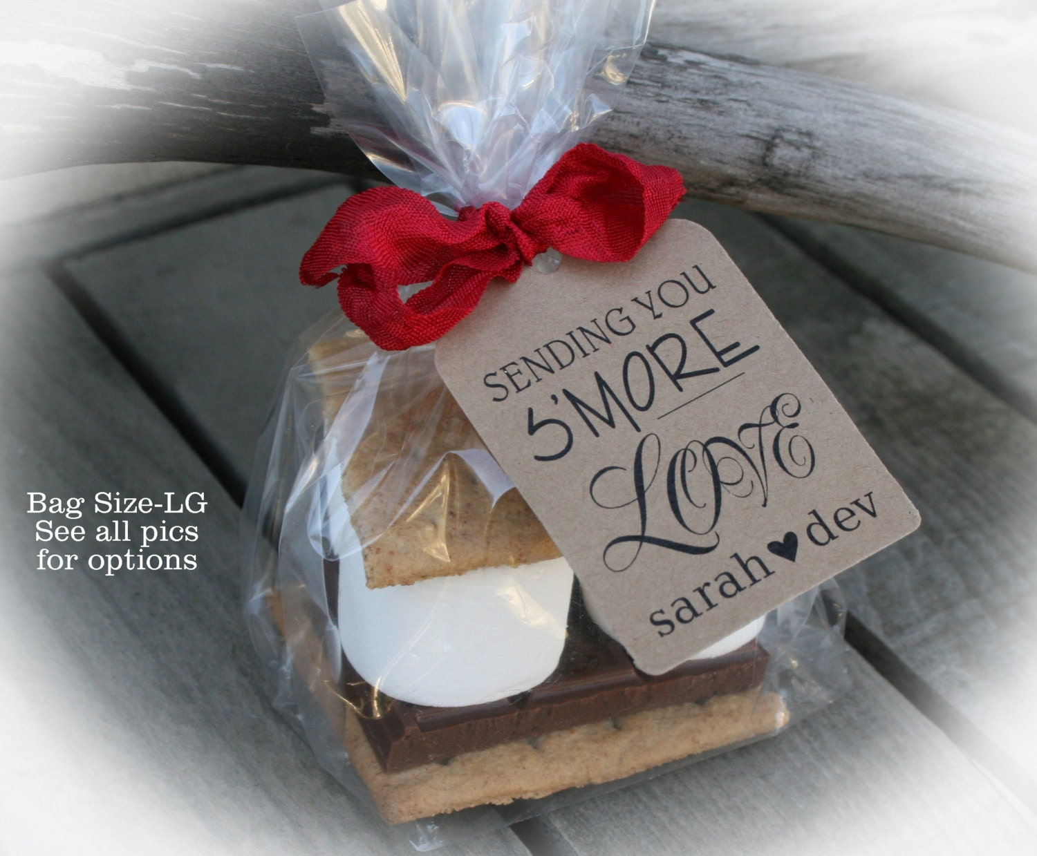 Diy Gift Tags For Wedding Favors : More Love favors 25 100 DIY Bags/Favor Tags