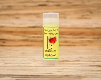 SEASONAL FAVORITE! Organic Lip Balm // Ginger Mint Lemonade