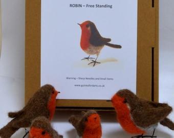 Needle Felting Kit Robin, Standing Robin, Robin, Garden Robin