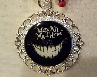 We Are All Mad Here Cheshire Cat Purse Charm
