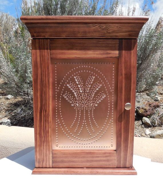 Copper Cove Apartments: Pine Wall Cabinet With Stamped Tin And By SantaFeWoodshop