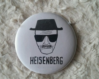 Breaking Bad Heisenberg Pin Back Button
