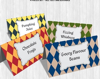 Hogwarts Food Labels