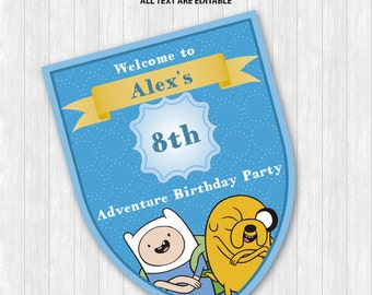 Adventure Time Welcome Sign