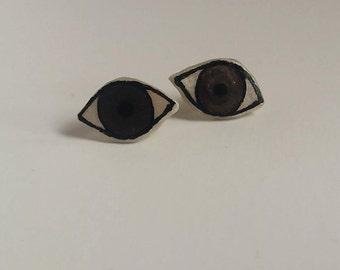Eye Earrings - Brown