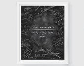 "Einstein | Print Chalkboard Quote ""You never fail until you stop trying"" (English or Spanish) (S, XL)"