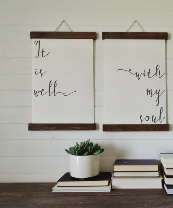 Well Decor: It Is Well With My Soul/canvas Art Print/wall By Thewoodedlane