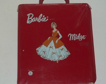 1965 Mattel France Barbie Doll Vinyl Case - American Girl Barbie - Midge - Hard To Find