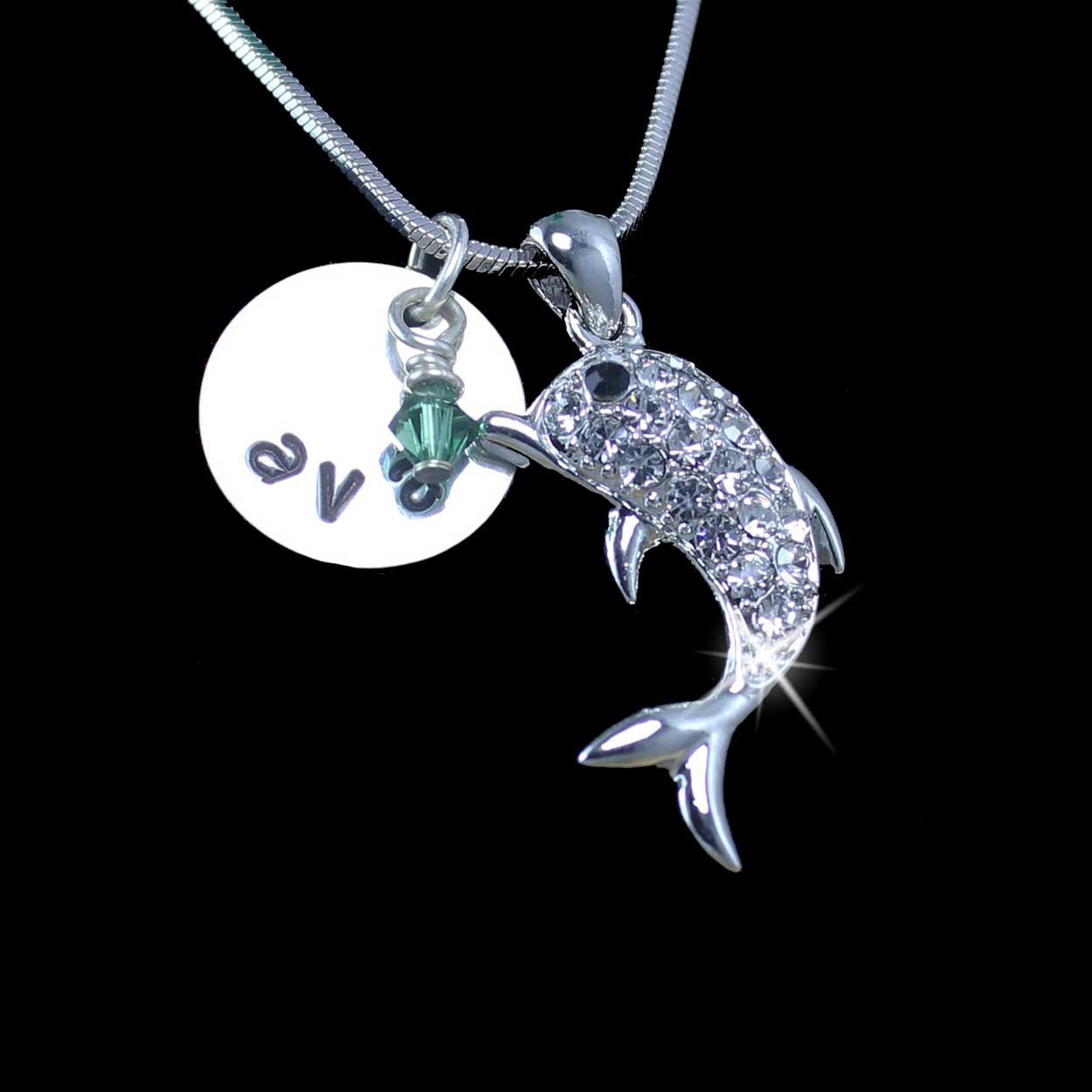 Dolphin Charm Bracelet: Personalized Dolphin Jewelry Dolphin Charm Necklace Gifts