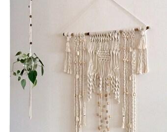 Macrame curtain etsy for Porte zen fiber