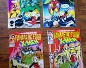 Fantastic Four vs. The X-Men; Vol 1, 1 through 4 Copper Age Limited Series Comic Books. NM+. 1987. Marvel Comics