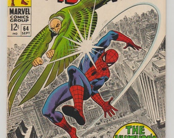 Amazing Spider-Man; Vol 1, 64, Silver Age Comic Book. FN/VF. September 1968.  Marvel Comics