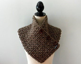 Cowl Scarf Chunky Cowl Chunky Cowl Scarf Chunky Scarf Crochet Cowl Knit Cowl Chunky Crochet Cowl Scarf Chunky Scarf with Buttons