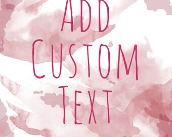 Personalized Text for Custom Pet Portrait