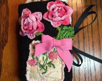 Beatiful Handmade Needle Case Needle Book Shabby Chic