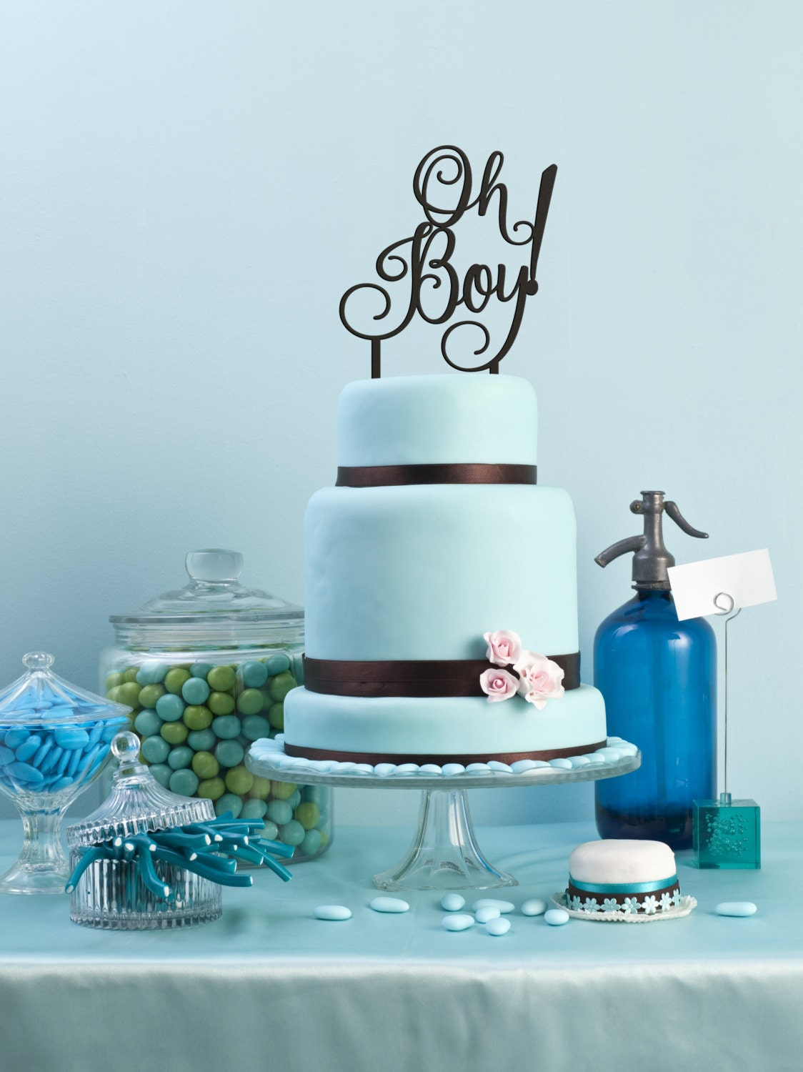 baby boy cake topper shower cake topper oh boy cake topper