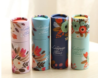 Colored Pencils in Gorgeous Floral Tubes (4 colors, 2 sizes).