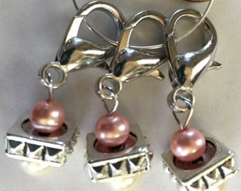Knitting or Crocheting Stitch markers
