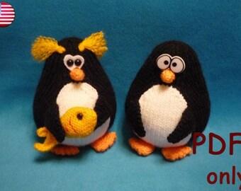 Penguin, amigurumi knitting pattern