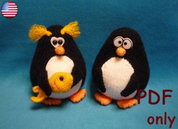 Penguin, amigurumi knitting pattern from jasminetoys on ...