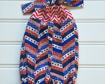 4th of July Baby Girl Romper, Toddler Romper, 4th of July Outfit, 4th of July Romper, Patriotic Outfit, 4th of July clothes