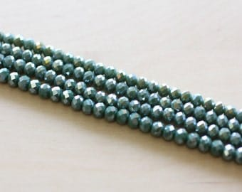 6X4MM Crystal Beads