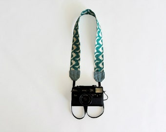 Green camera strap, adjustbable camera strap, birds camera strap, gift for bird lover
